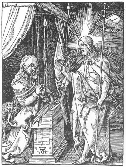 Christ Appears to His Mother - Albrecht Durer