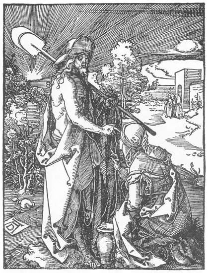 Christ Appears to Mary Magdalene - Albrecht Durer