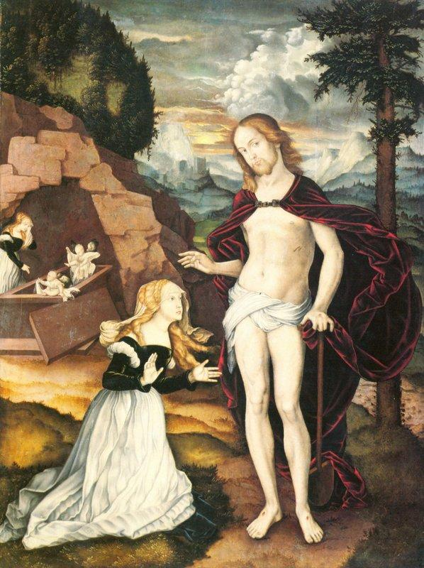 Christ as a gardener (Noli me tangere) - Hans Baldung