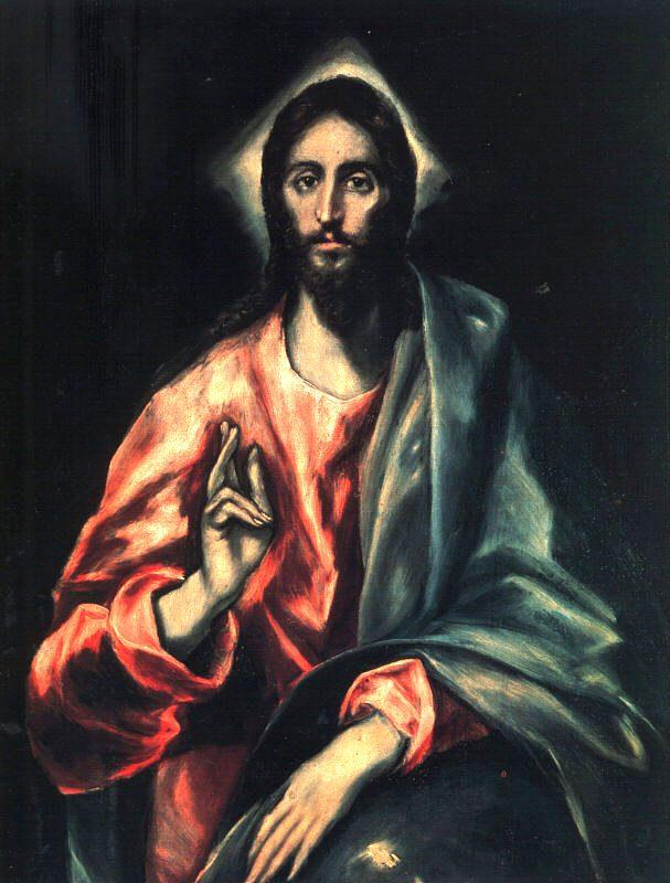 Christ as Saviour  - El Greco