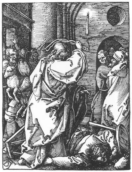 Christ Driving the Merchants from the Temple - Albrecht Durer