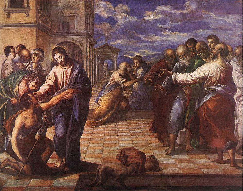 Christ healing the blind man - El Greco