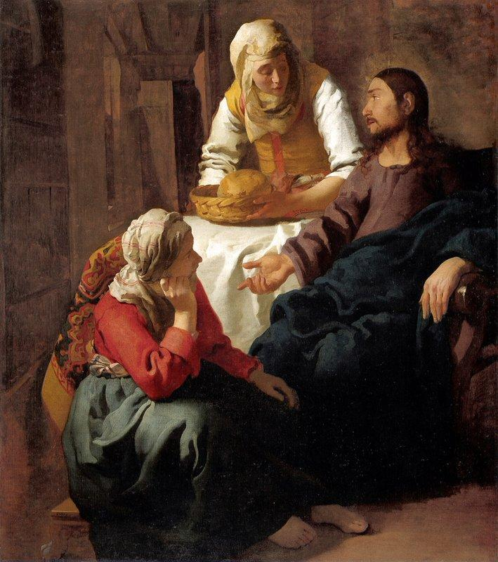Christ in the House of Martha and Mary - Henryk Siemiradzki
