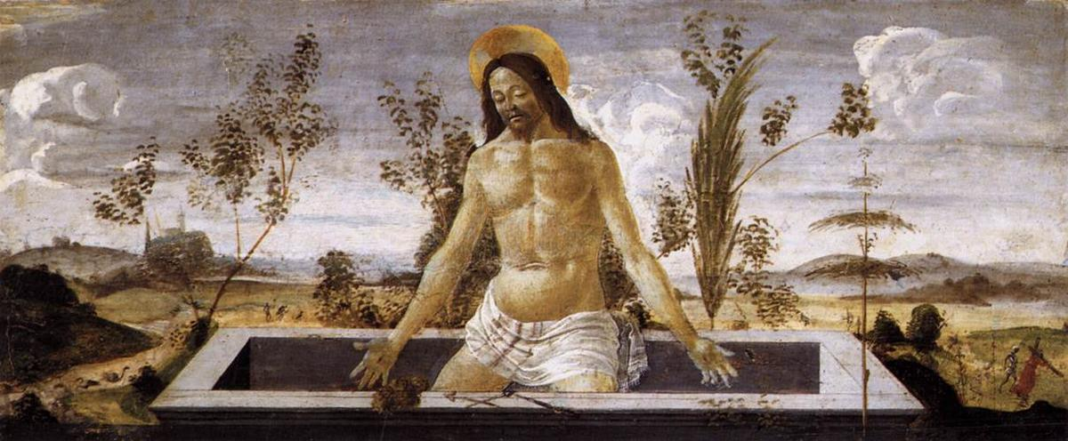Christ in the Sepulchre - Sandro Botticelli