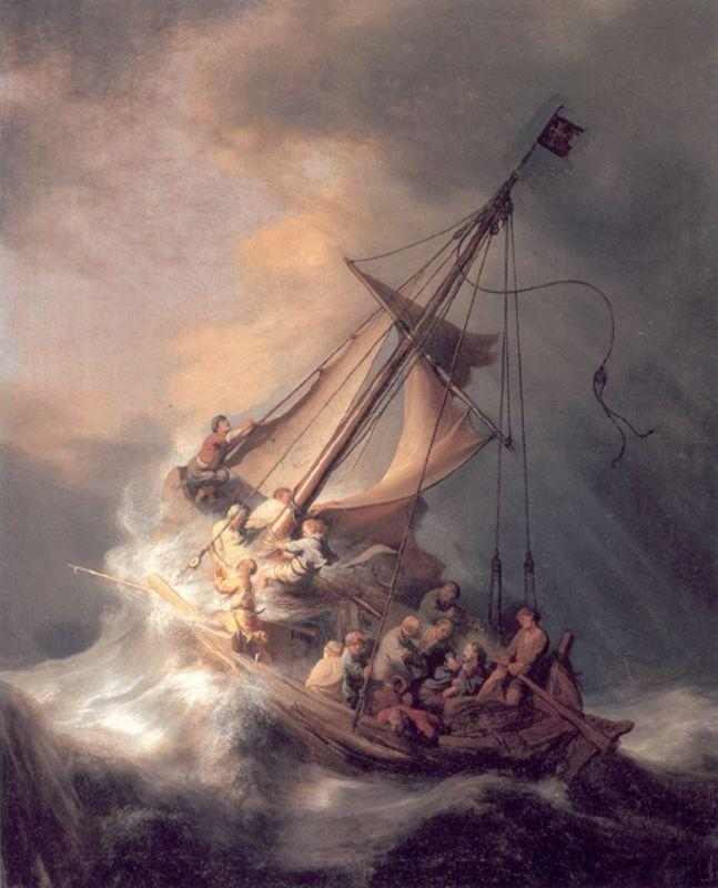 Christ in the Storm - Rembrandt