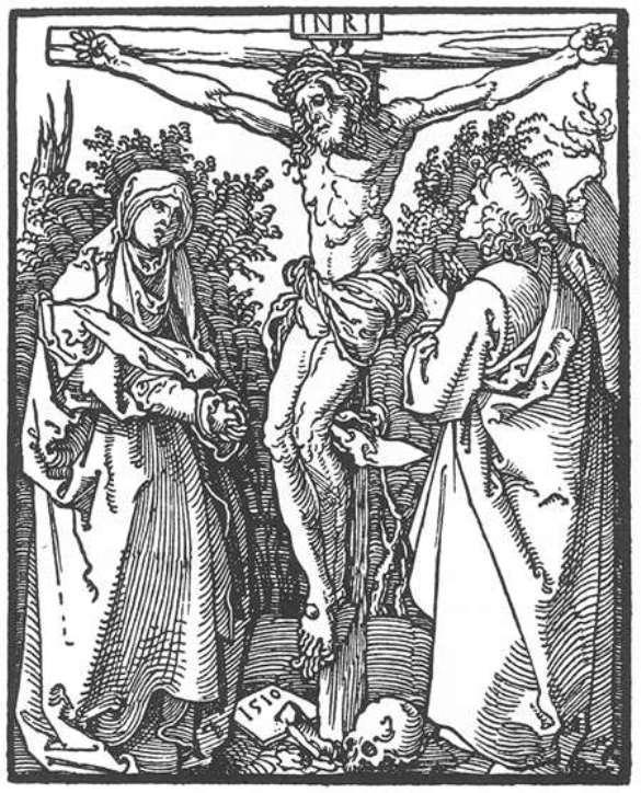 Christ on the Cross with the Virgin and St John - Albrecht Durer