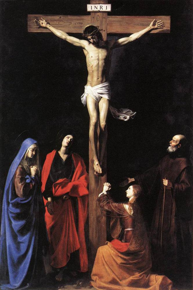 Christ on the Cross with the Virgin, Mary Magdalene, St. John and St. Francis of Paola - Nicolas Tournier