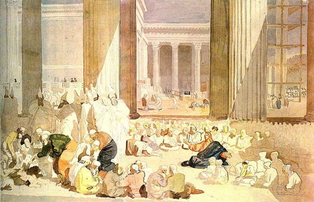 Christ's sermon in the temple - Alexander Ivanov