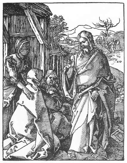 Christ Taking Leave of His Mother - Albrecht Durer