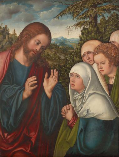 Christ taking Leave of his Mother - Albrecht Altdorfer