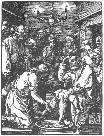 Christ Washing Peter s Feet - Albrecht Durer