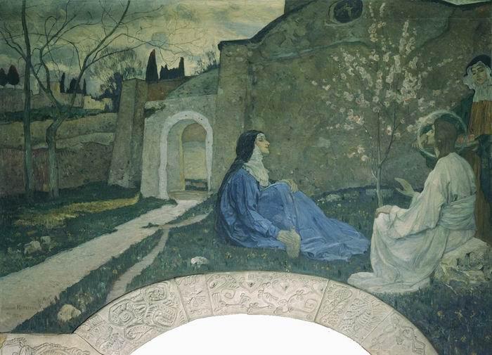 Christ with Martha and Mary - Mikhail Nesterov