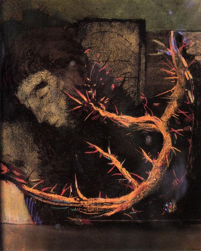 Christ with Red Thorns - Odilon Redon