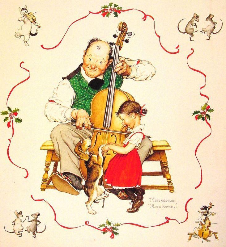 Christmas Dance - Norman Rockwell