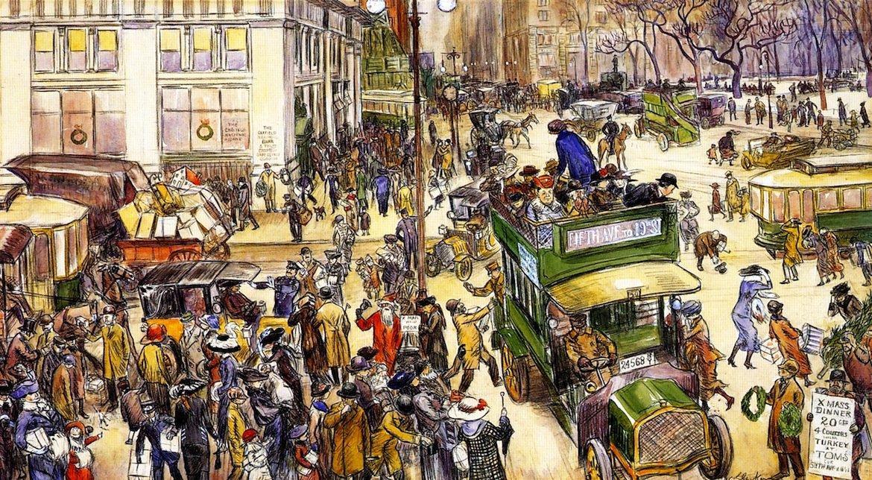 Christmas Shoppers - William James Glackens