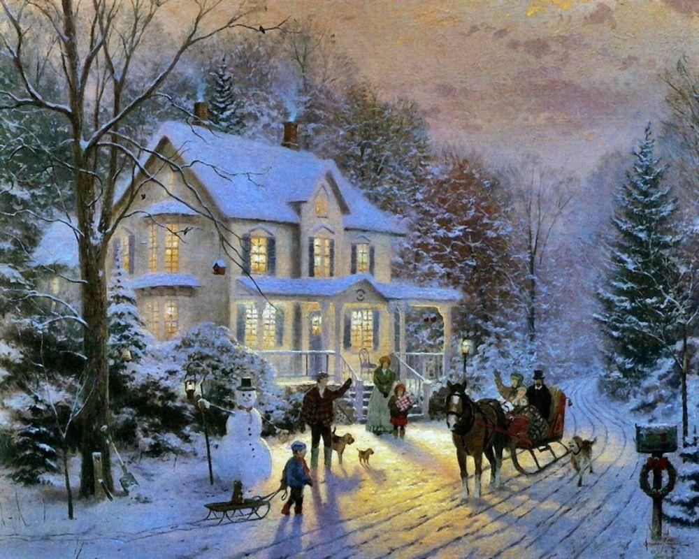 Christmas - Thomas Kinkade | AllPanters.org