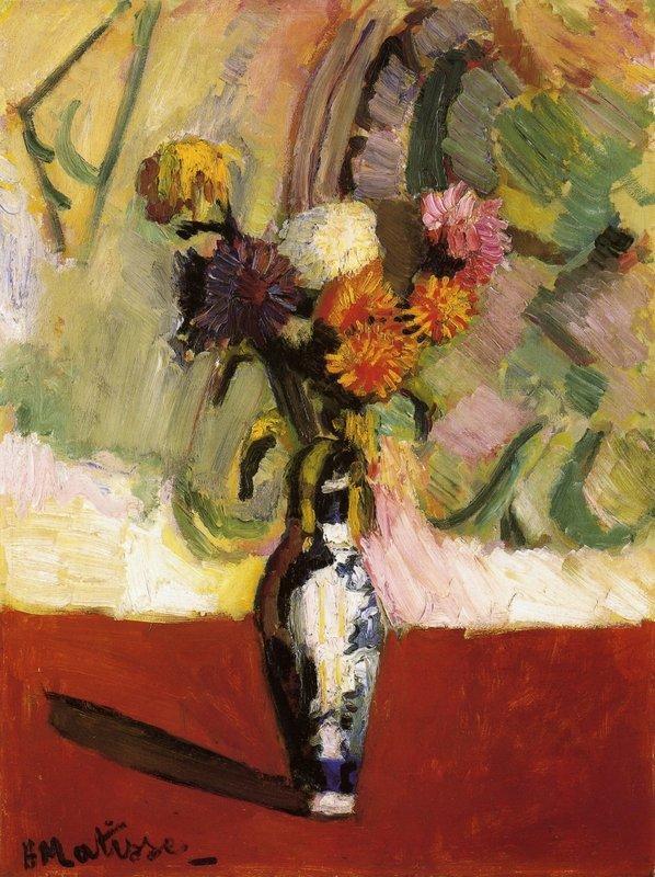 Chrysanthemums in a Chinese Vase - Henri Matisse