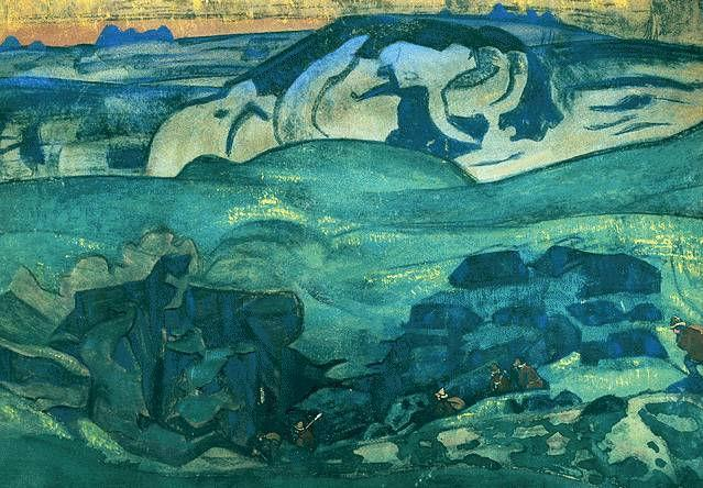 Chud has gone under the ground - Nicholas Roerich