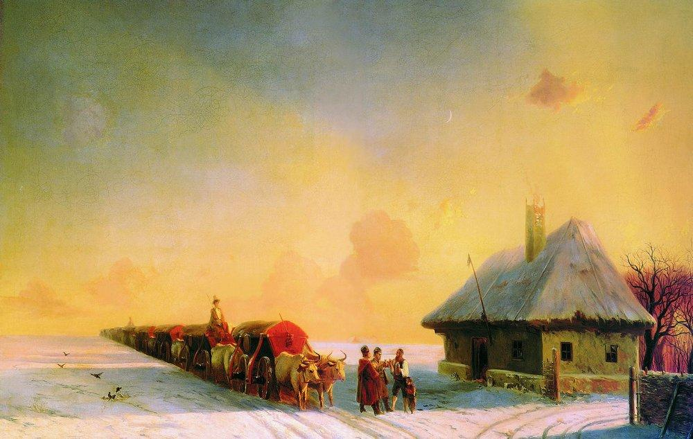 Chumaks in Little Russia - Ivan Aivazovsky