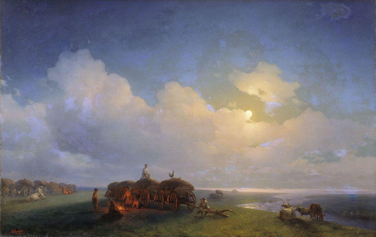 Chumaks leisure - Ivan Aivazovsky