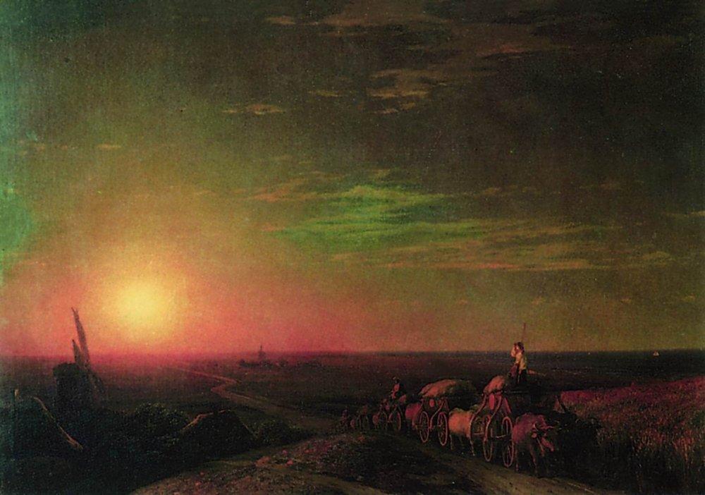 Chumaks Waggons - Ivan Aivazovsky