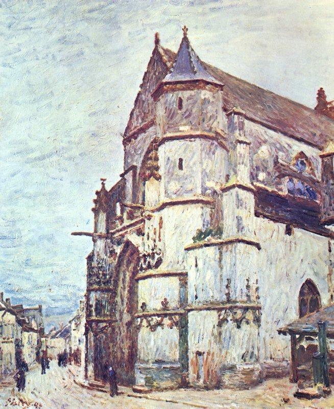 Church at Moret after the Rain - Alfred Sisley