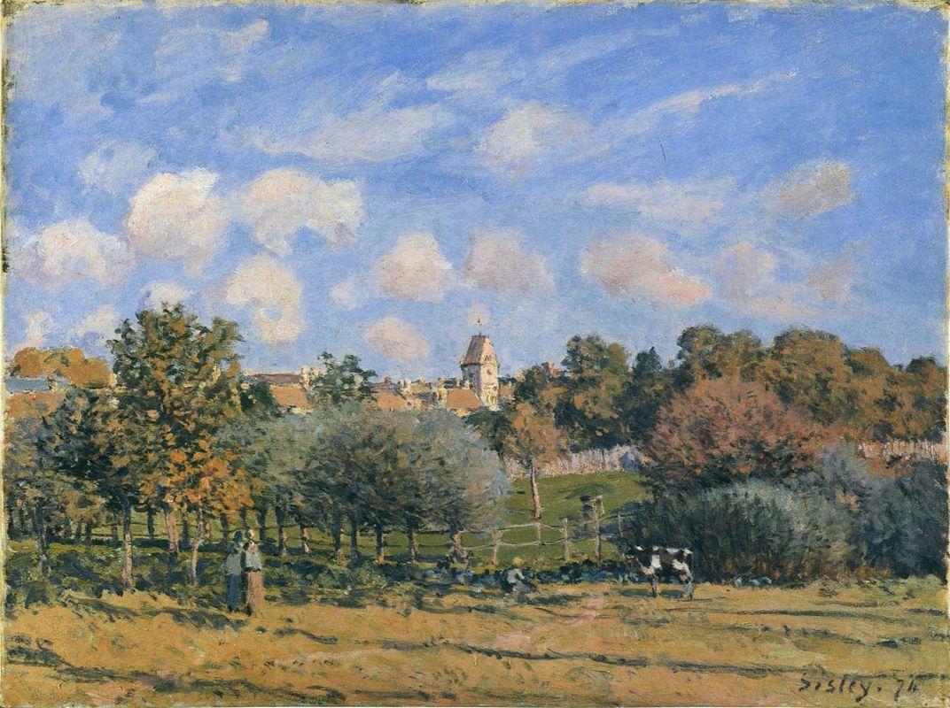 Church at Noisy Le Roi in Autumn - Alfred Sisley