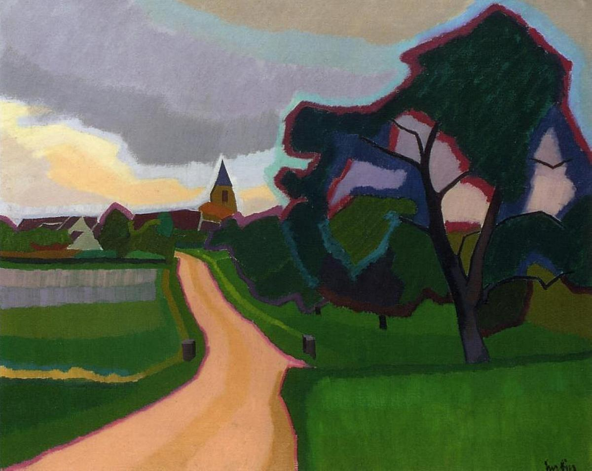 Church at Orgeruse  - Auguste Herbin
