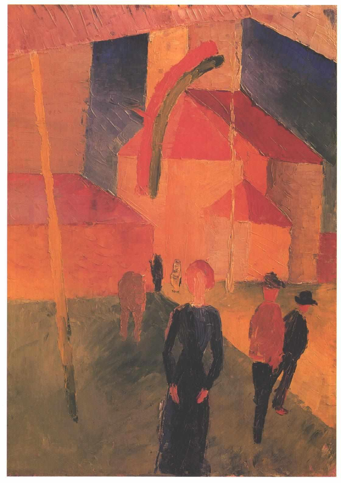 Church Decorated with Flags - August Macke