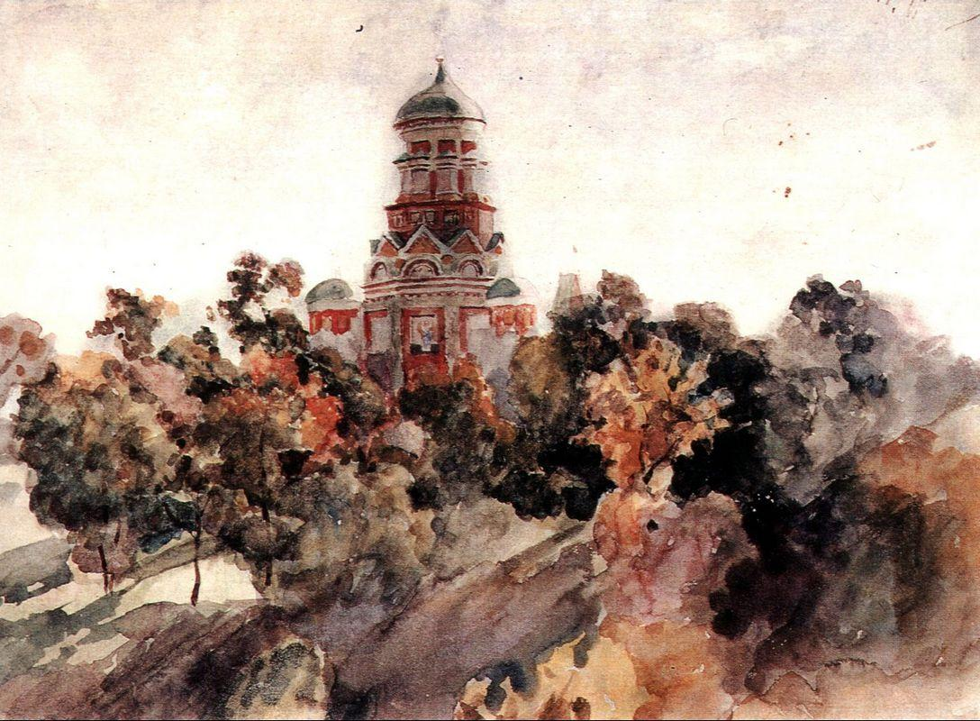Church in the village Dyakovo - Vasily Surikov