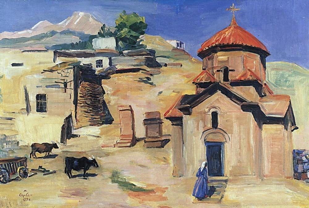 Church Karmravor of VII century - Martiros Saryan