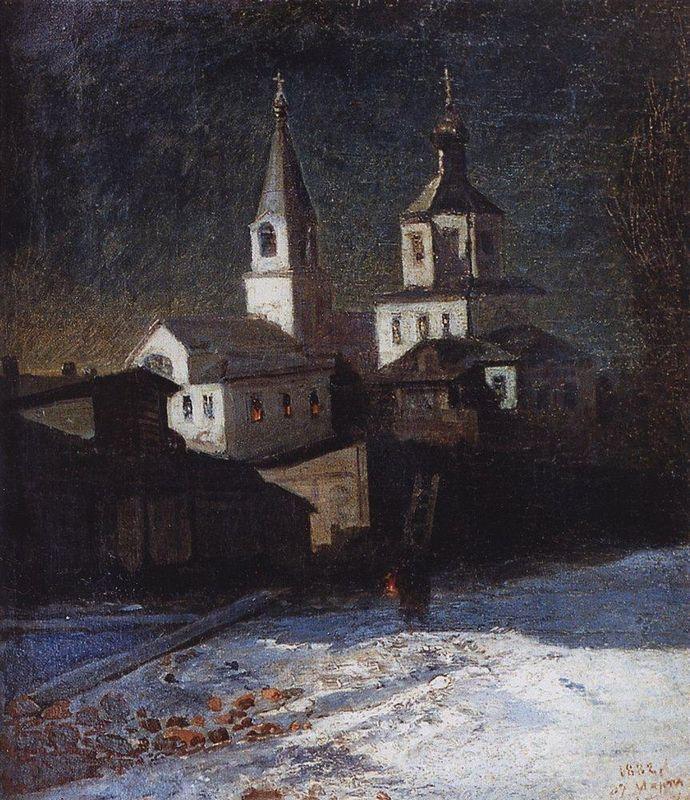 Church of Elijah the ordinary in Moscow - Aleksey Savrasov