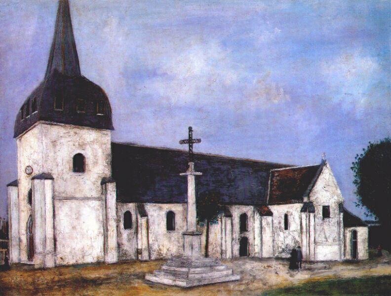 Church of St. Hilary - Maurice Utrillo