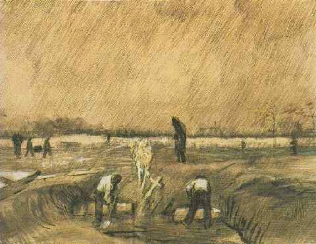 Churchyard in the Rain - Vincent van Gogh