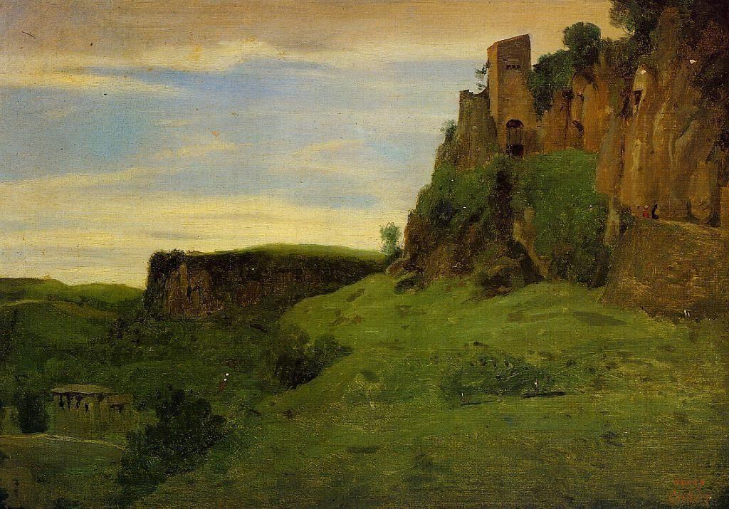 Civita Castellana Buildings High in the Rocks (La Porta San Salvatore) - Camille Corot