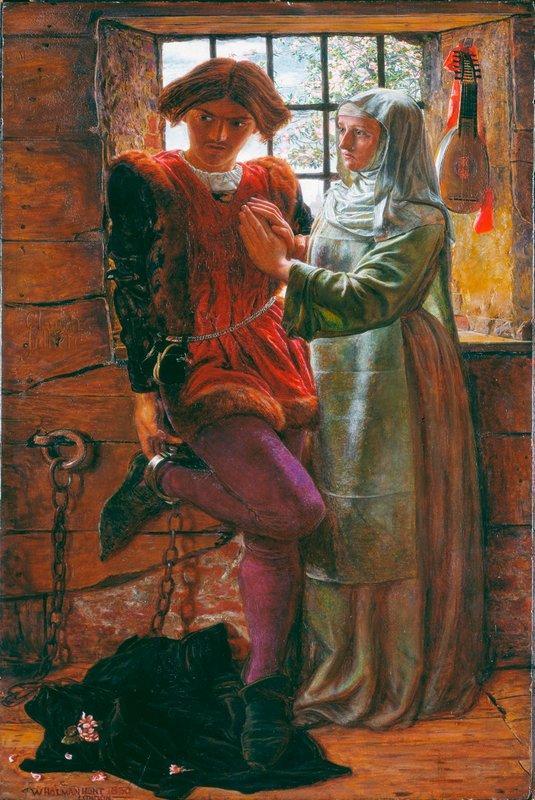 Claudio and Isabella  - William Holman Hunt