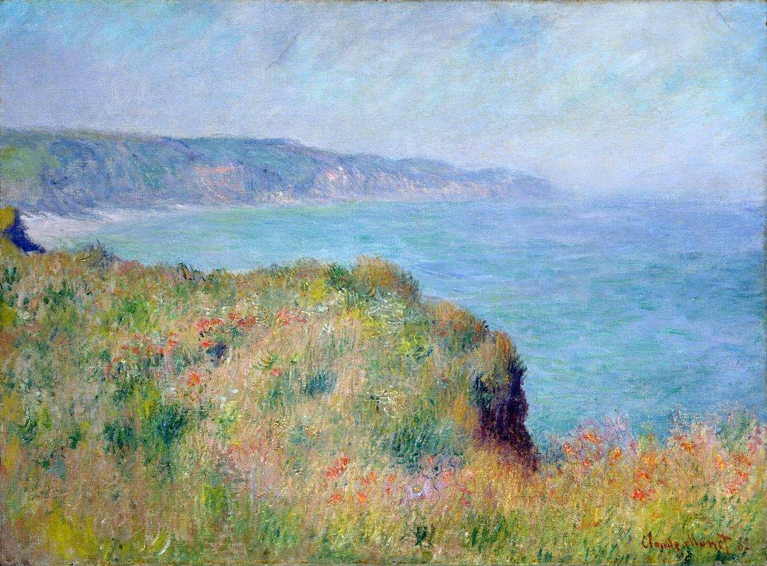 Cliff near Pourville - Claude Monet