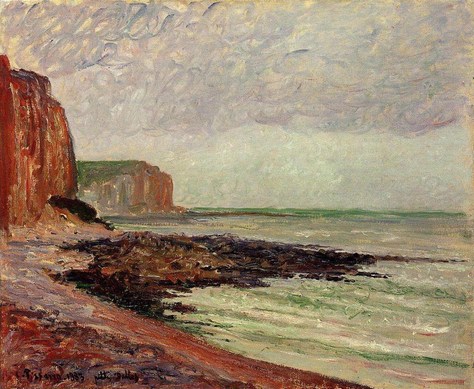 Cliffs at Petit Dalles - Camille Pissarro