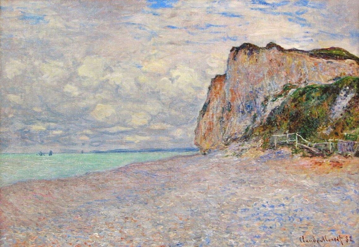 Cliffs near Dieppe - Claude Monet | AllPainters.org