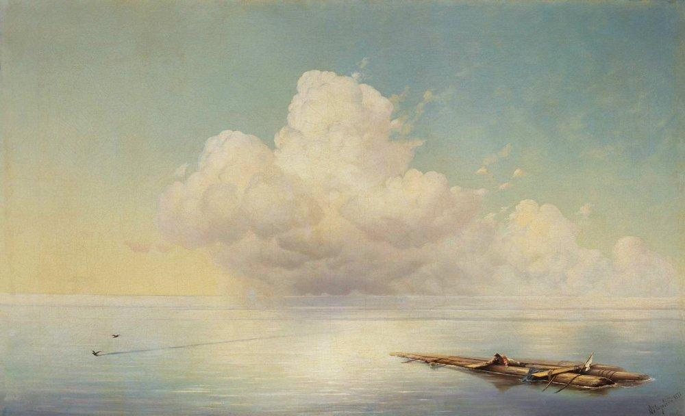 Cloud over the calm sea - Ivan Aivazovsky