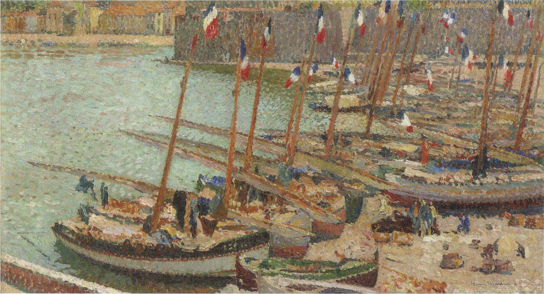 Collioure port July 14 - Henri Martin