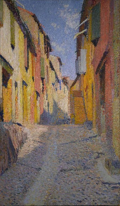 Collioure street - Henri Martin