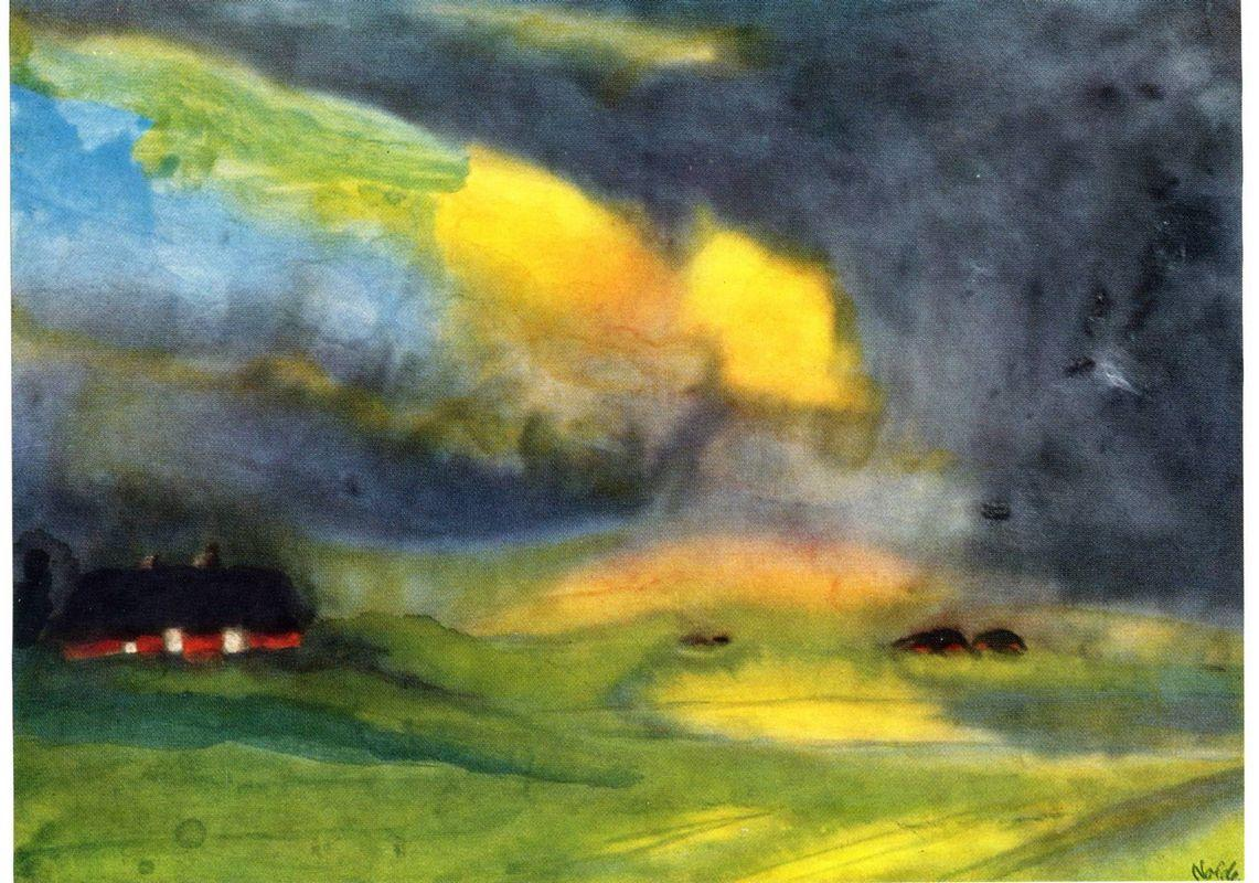 Colored sky above the Marais - Emil Nolde