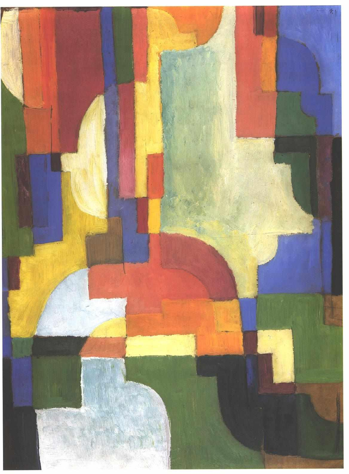 Colourfull shapes - August Macke