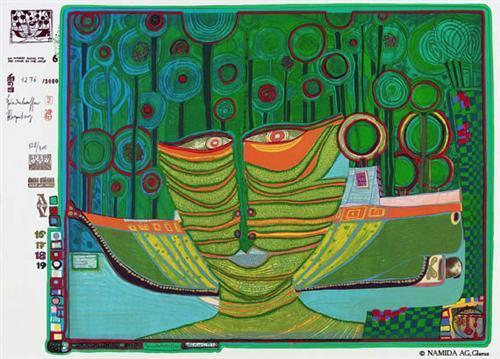 687A  Columbus Rainy Day in India - Friedensreich Hundertwasser