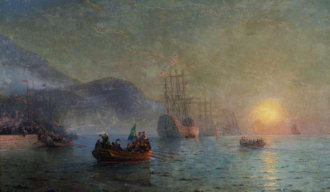 Columbus sailing from Palos - Ivan Aivazovsky