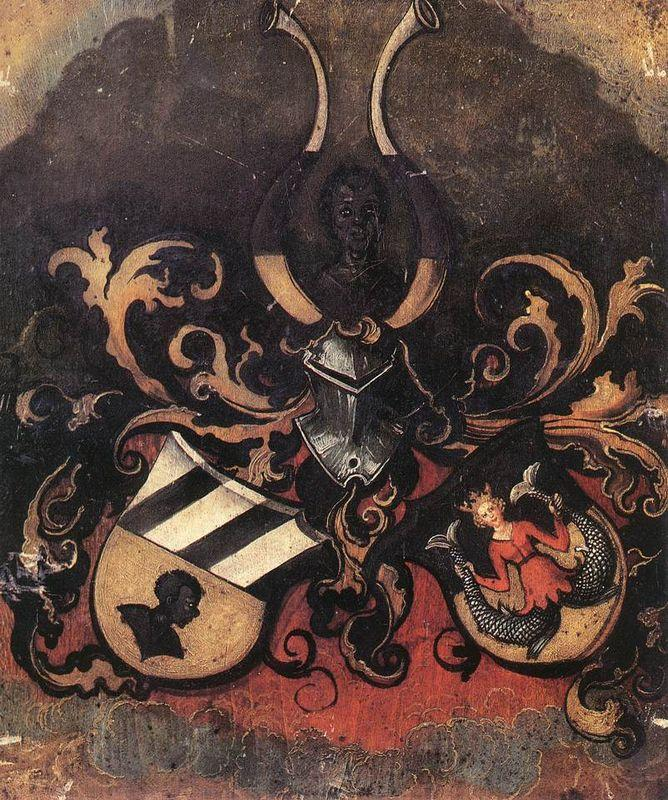 Combined Coat of Arms of the Tucher and Rieter Families - Albrecht Durer