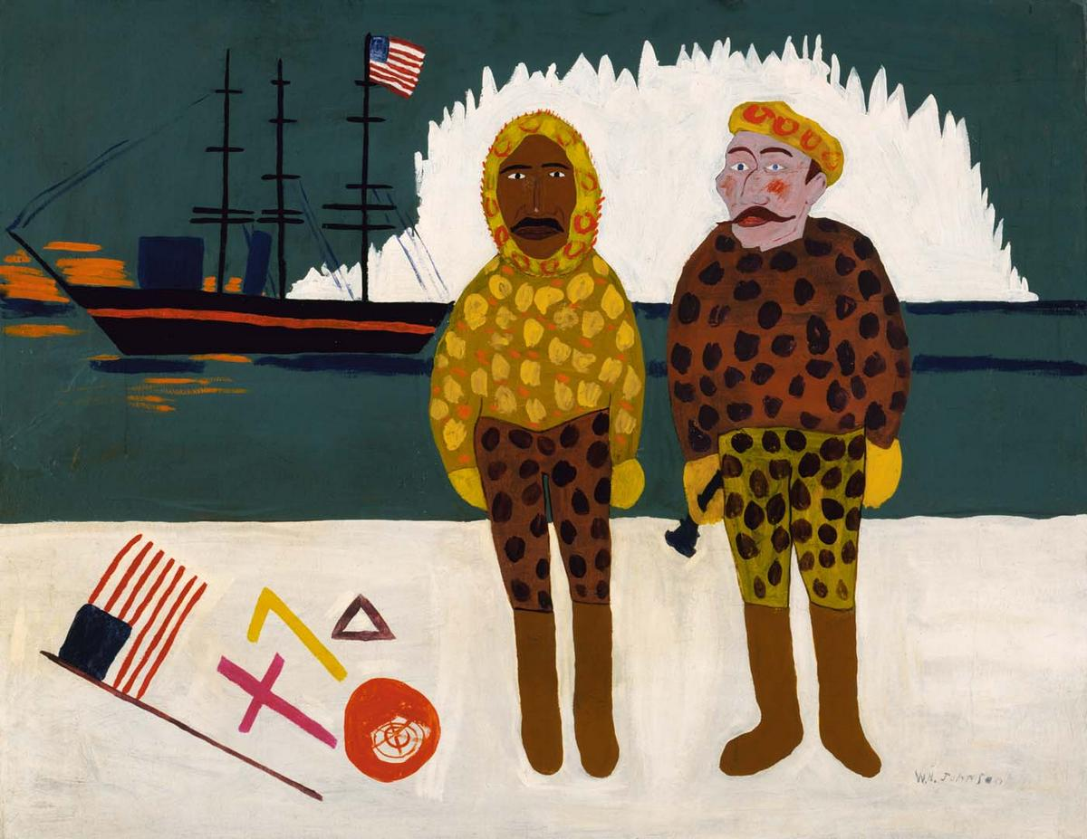 Commodore Peary and Henson at the North Pole - William H. Johnson
