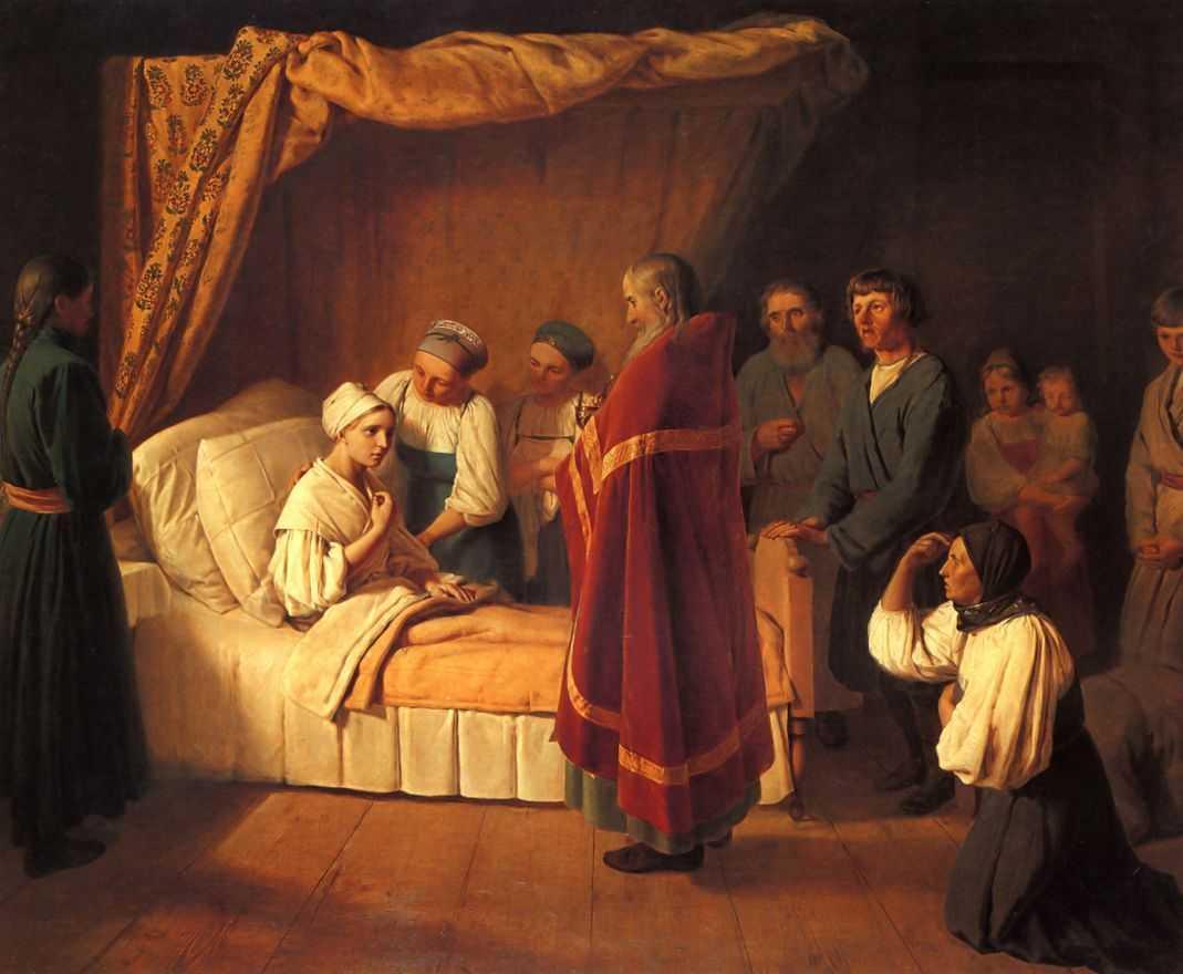 Communion of Dying - Alexey Venetsianov