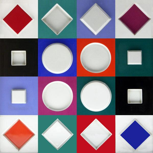 Composition Carree Relief - Victor Vasarely